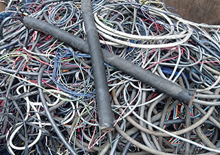 Scrapped electric cables
