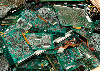 Scrapped circuit boards